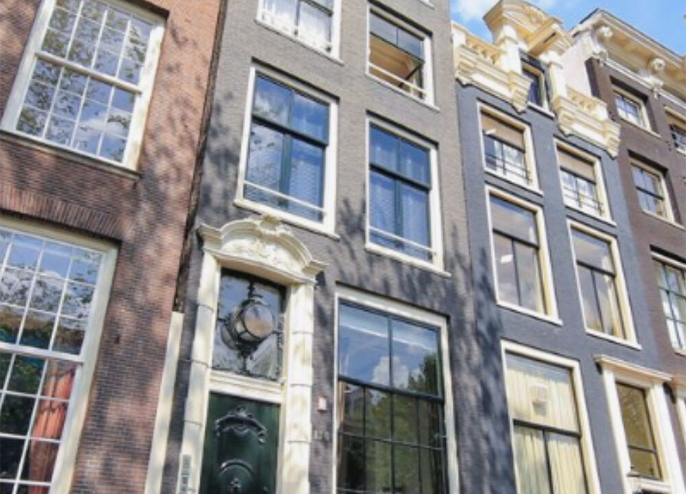 Herengracht apartments amsterdam front side house door
